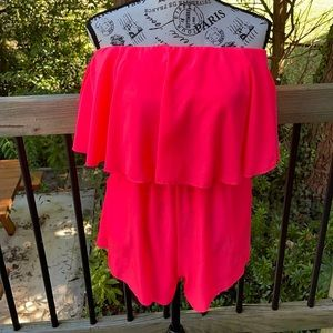 Mikey and Joey pink romper w/ cut out sleeves L